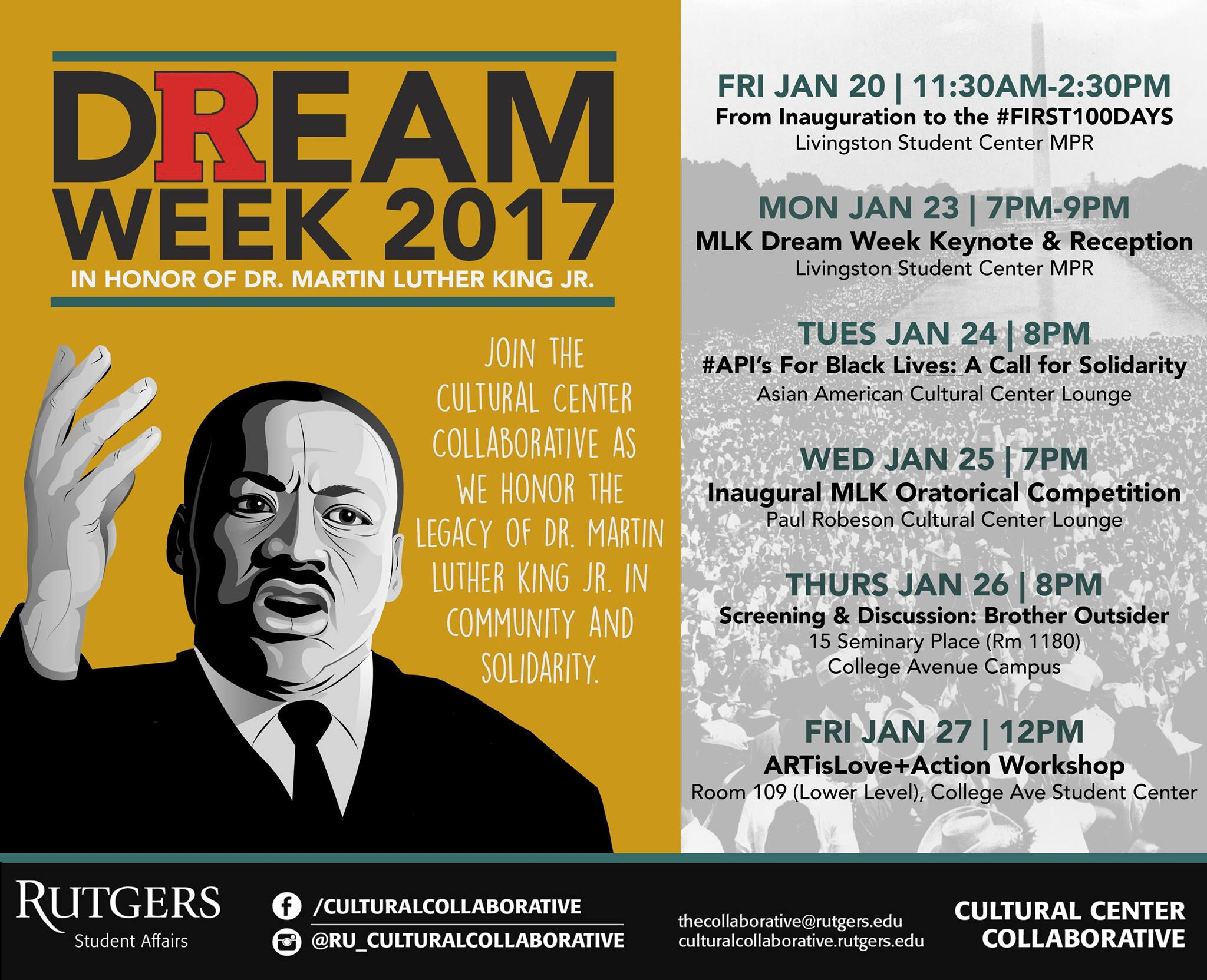 Dream Week 2017 Flyer