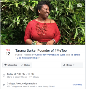 Tarana Burke Event Image
