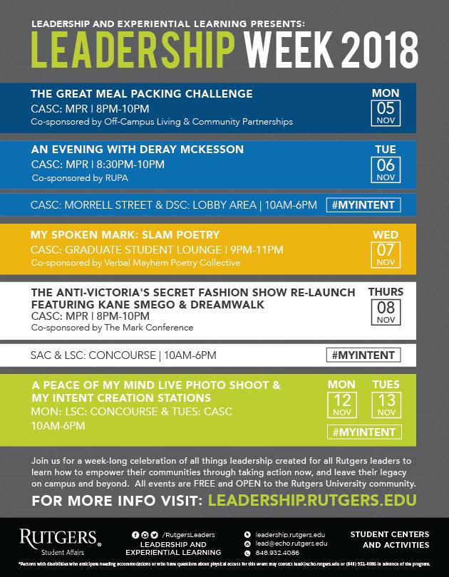 Leadership Week 2018 Flyer