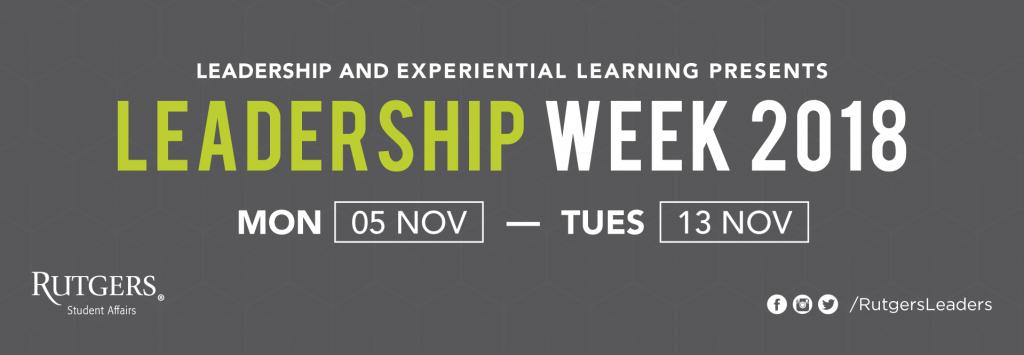 Leadership Week 2018 Banner