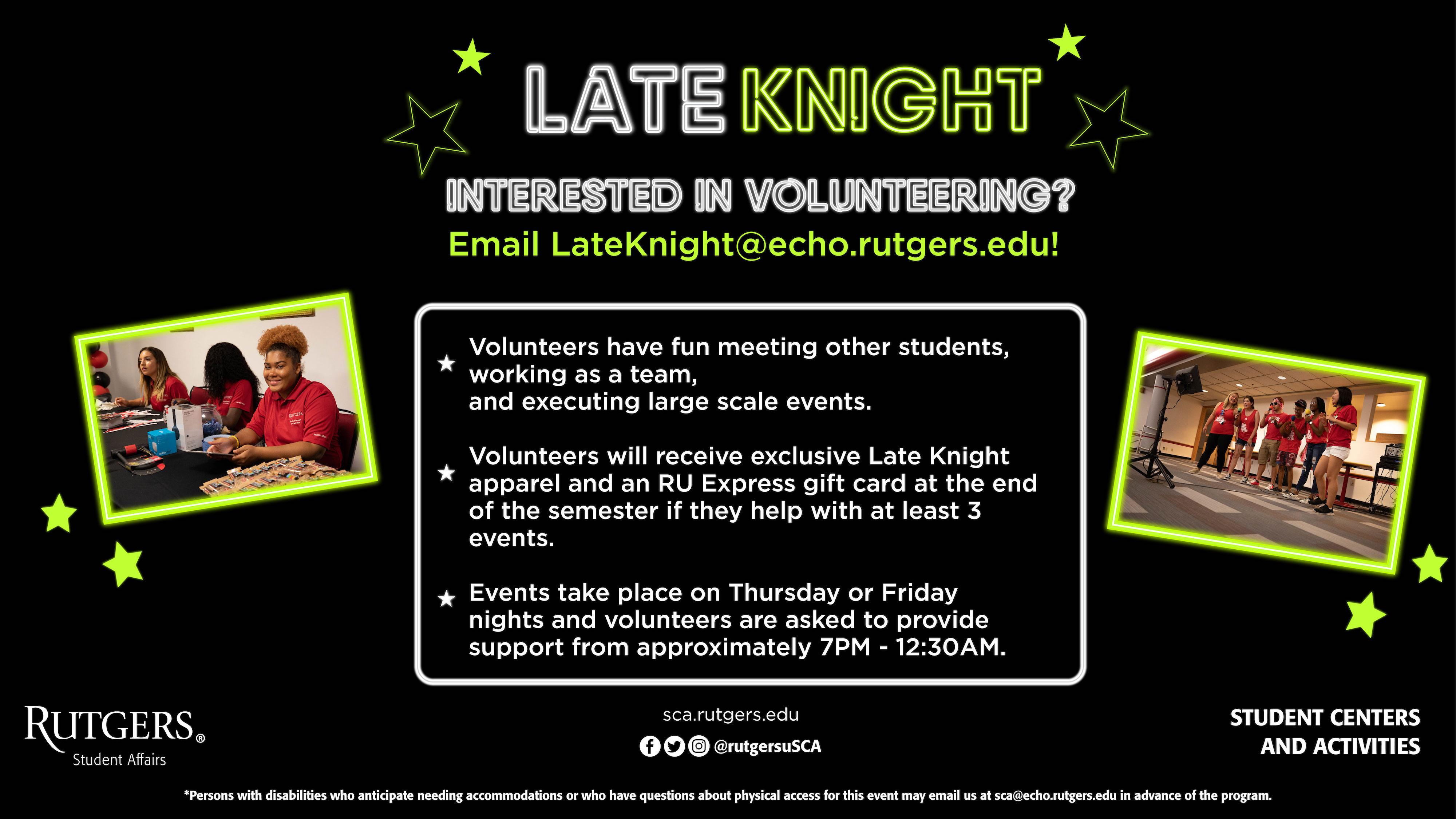 Late Knight Volunteering