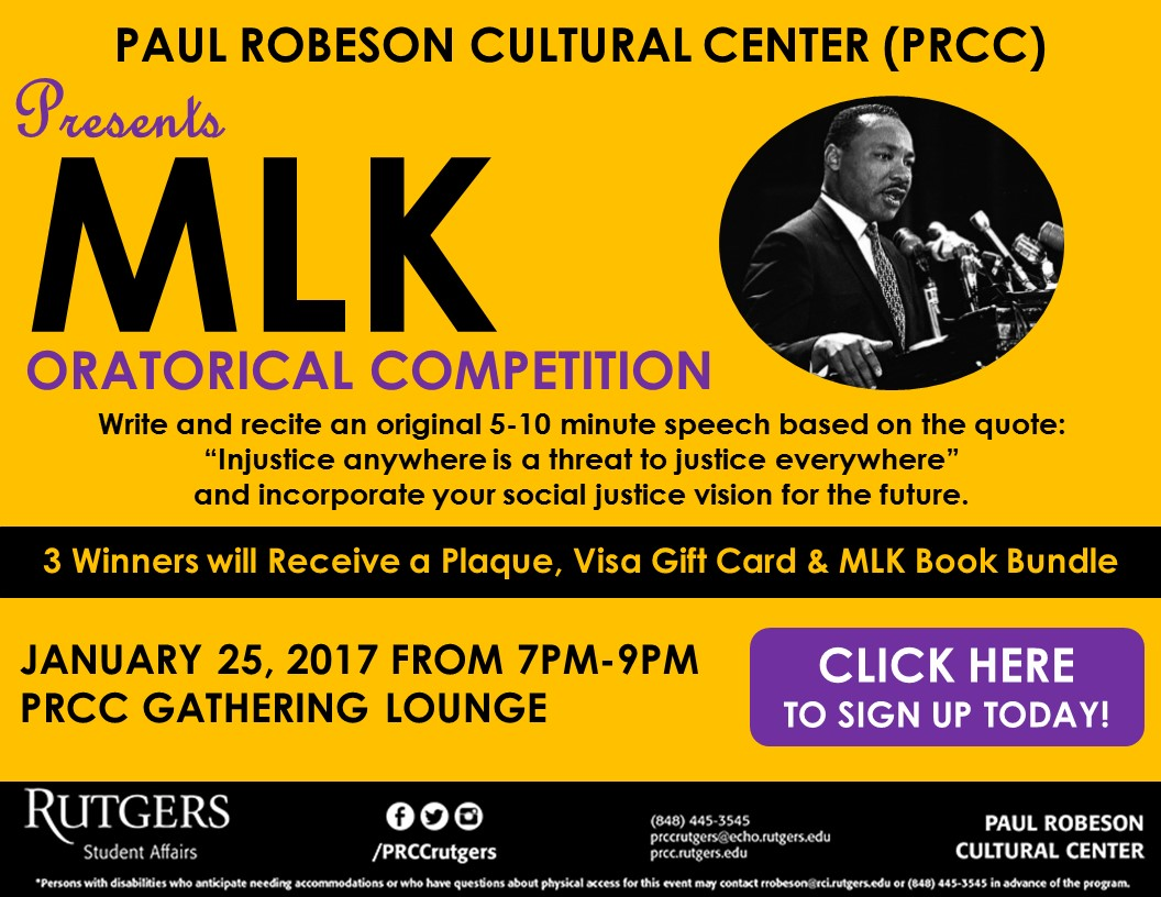 MLK Week Oratorical Competition Click Here