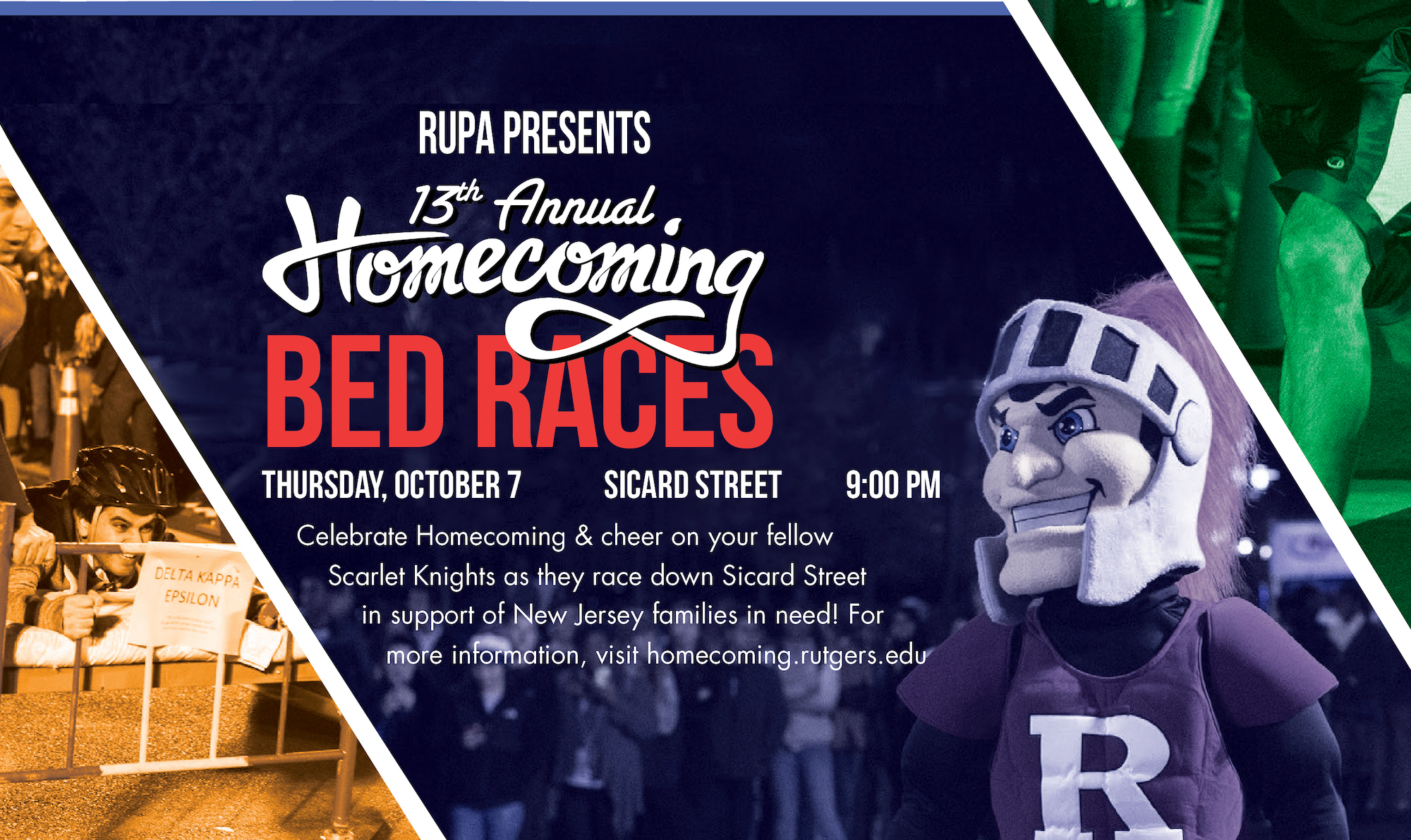 Homecoming Bed Races infographic