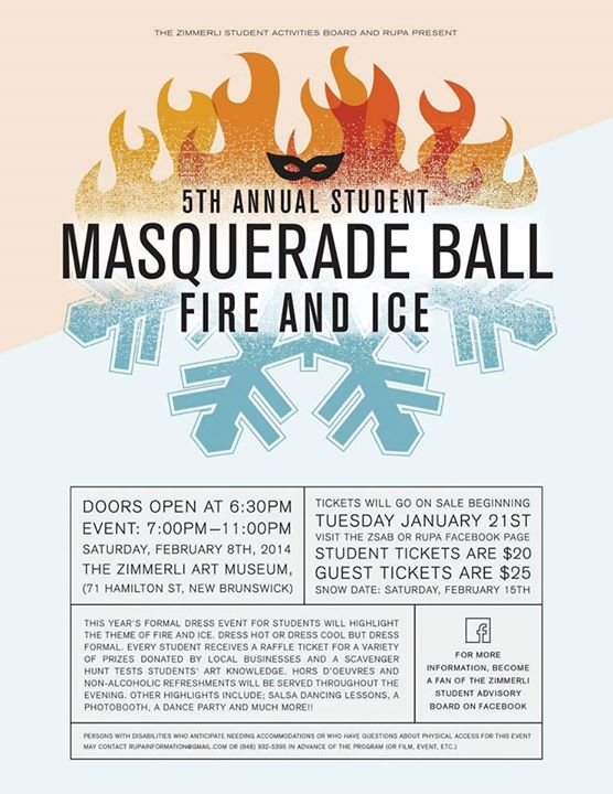 Fifth Annual Masquerade Ball: FIRE & ICE – RUPA – Rutgers University