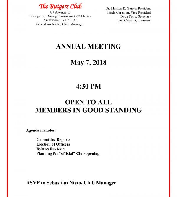 Annual Mtg notice 2018