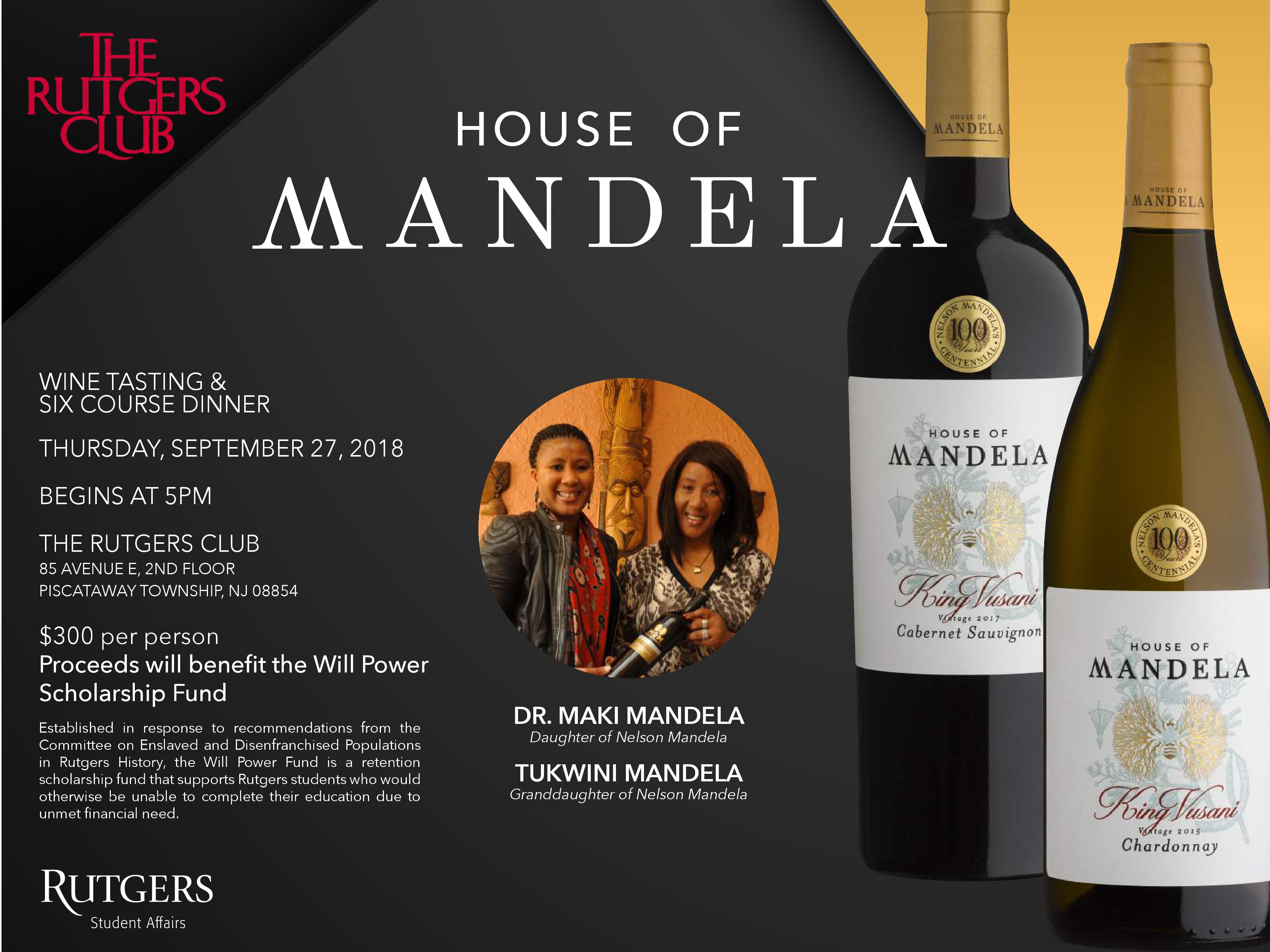 e6bebab02 An Evening with House of Mandela – Rutgers Club