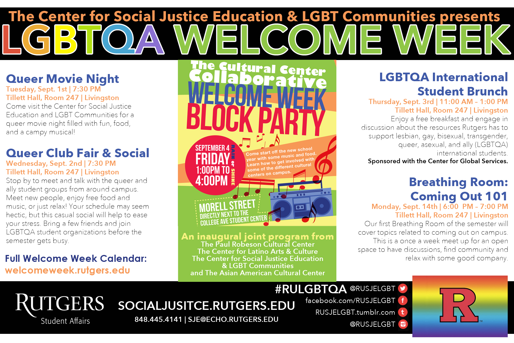 welcome week 2015
