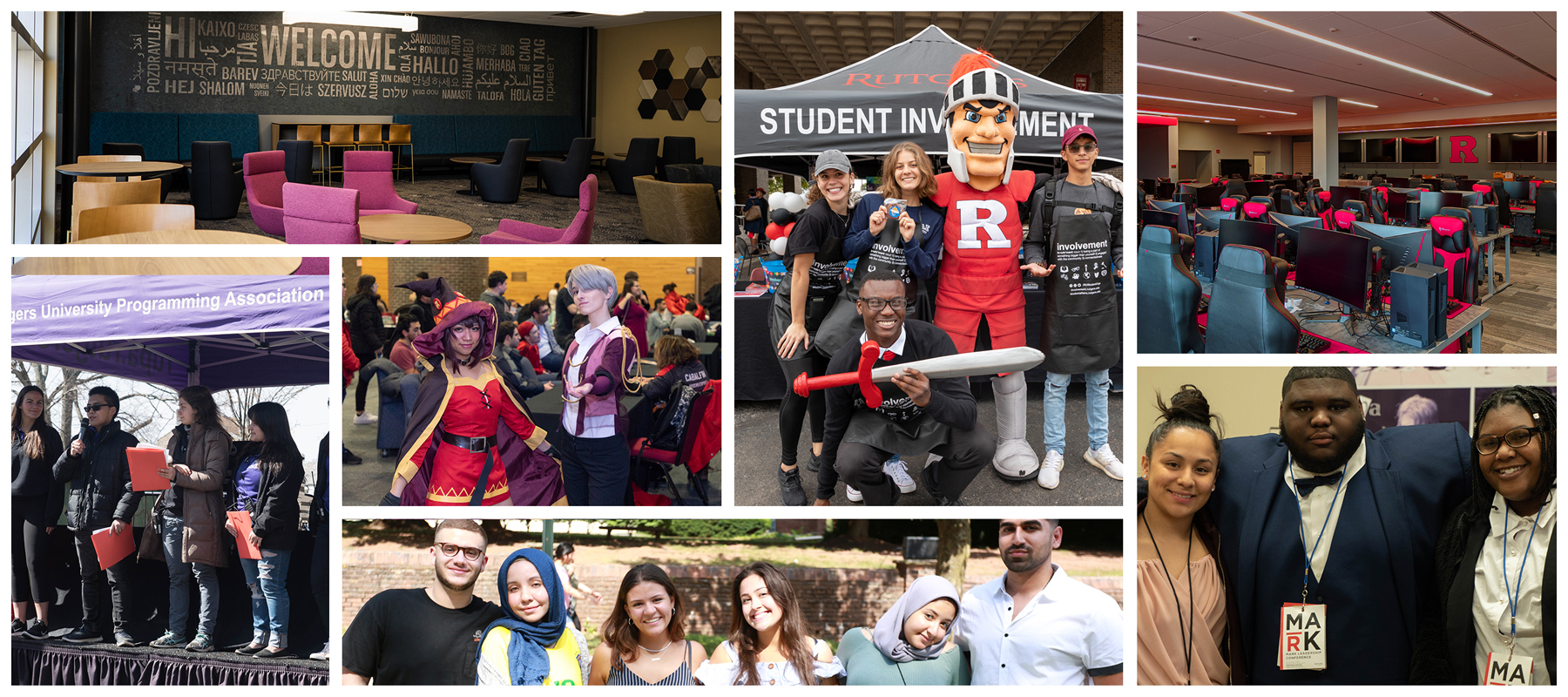 Student Centers and Activities Collage