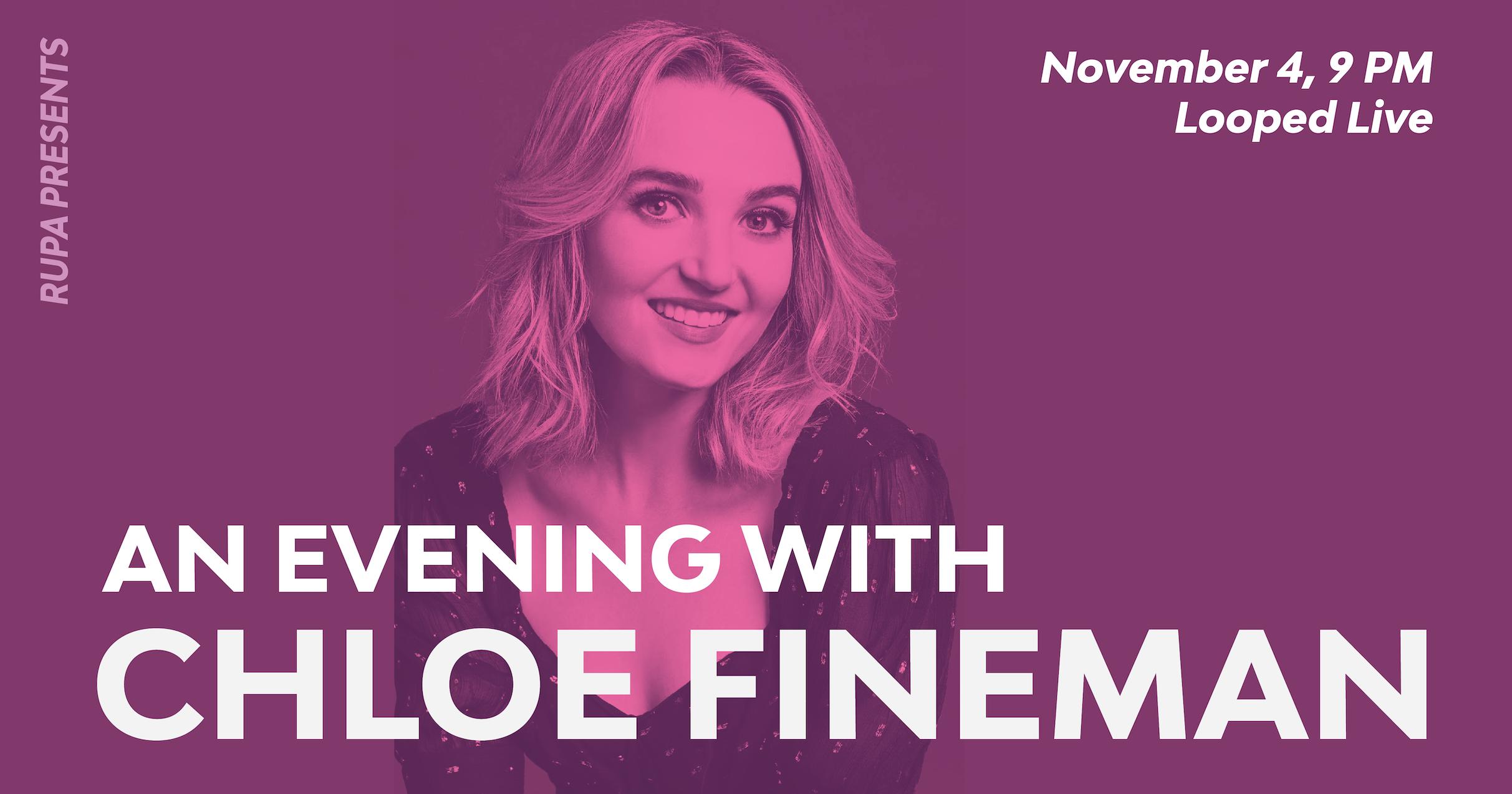 An Evening With Chloe Fineman Flyer