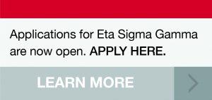 Applications for Eta Sigma Gamma
