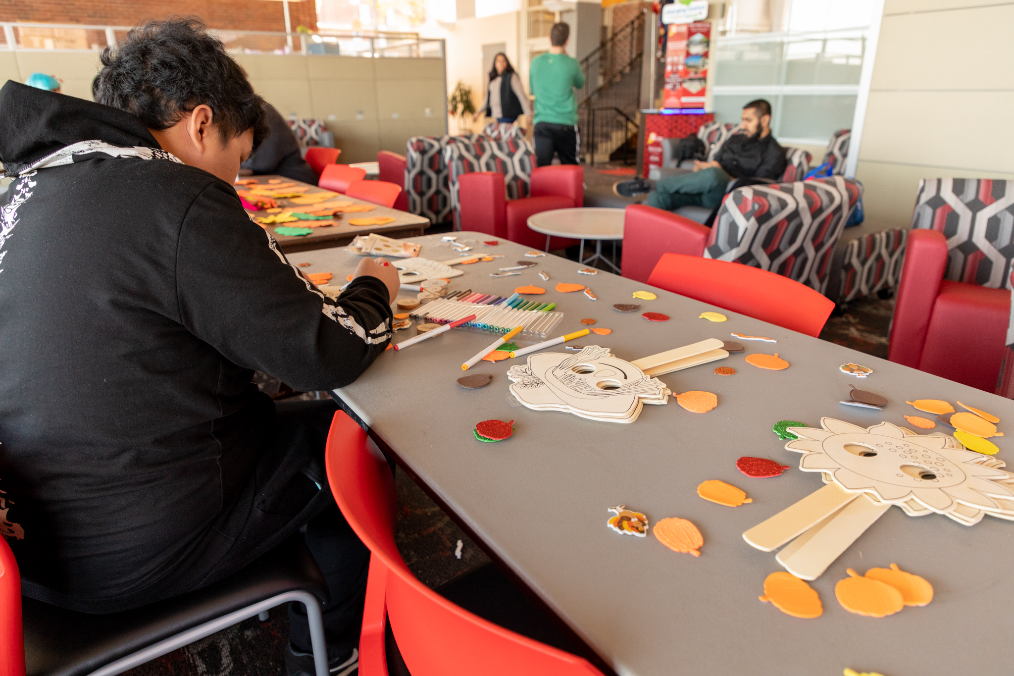 Students at Craft Day