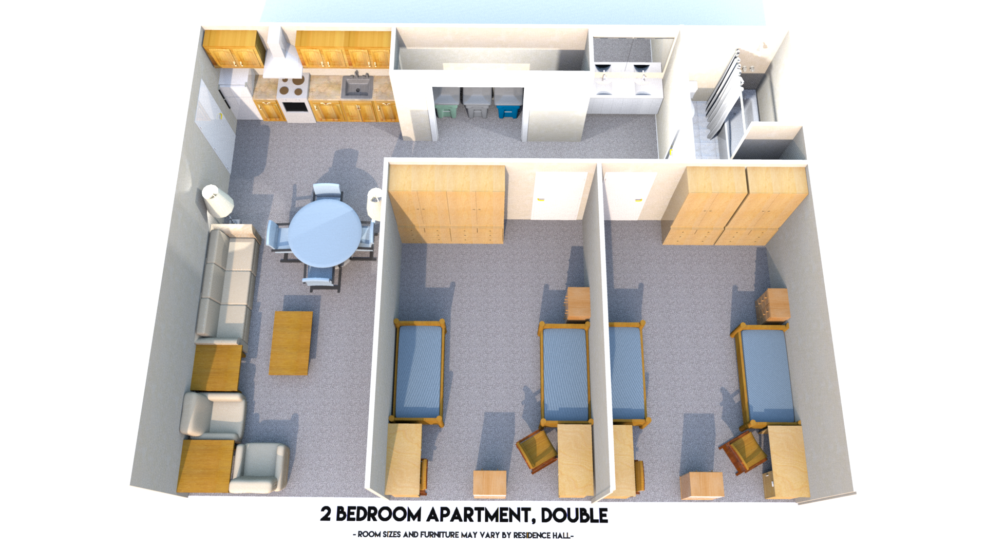 2br Apt Doubles Base Plan Top