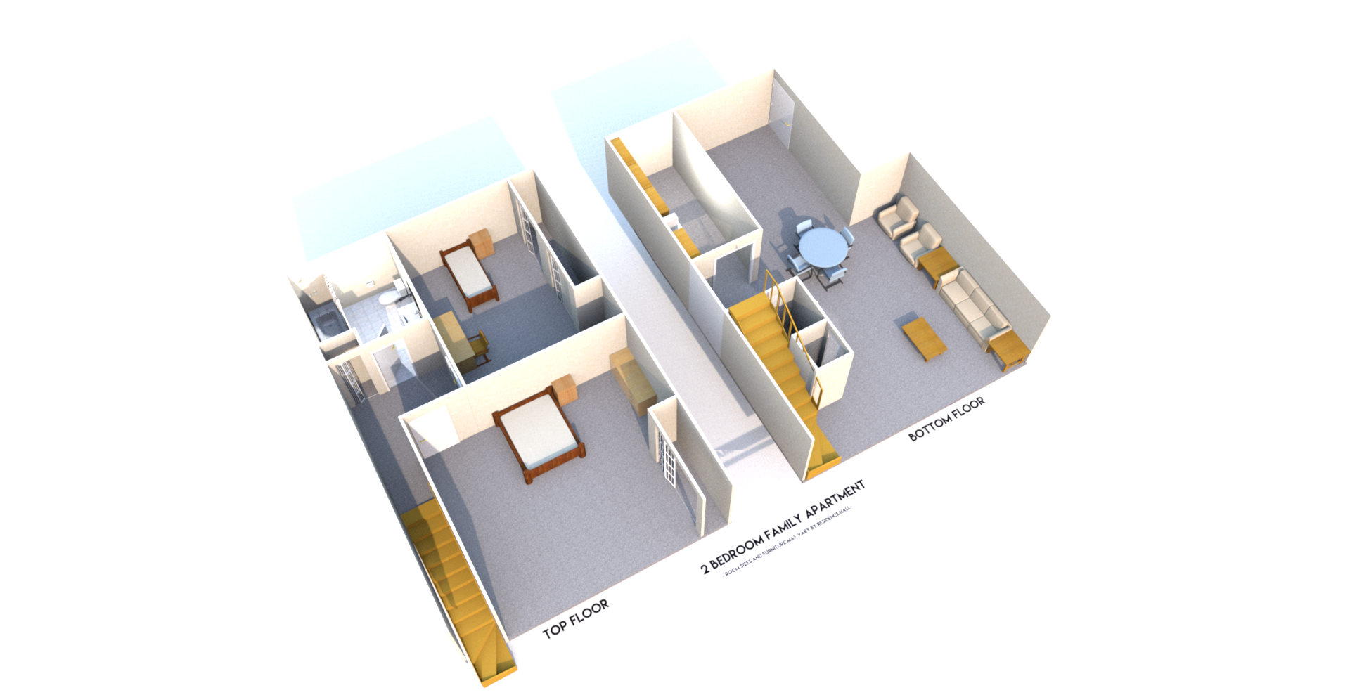 marvin 2 floor base plan side. Marvin Apartments   Residence Life
