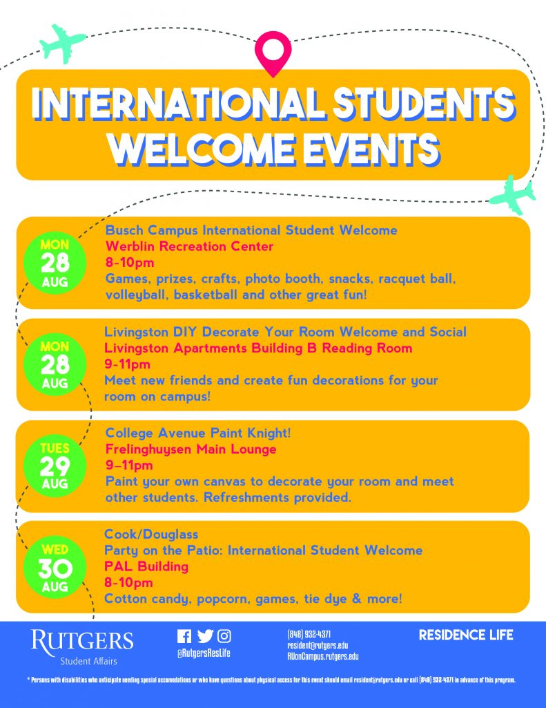 international welcome events 2017
