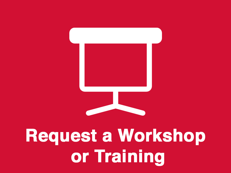 Icon button for Request a Workshop or Training